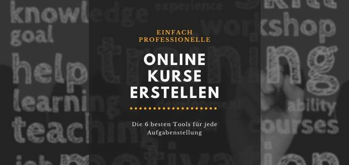 Online Kurse erstellen - Test E-Learning Software Tools
