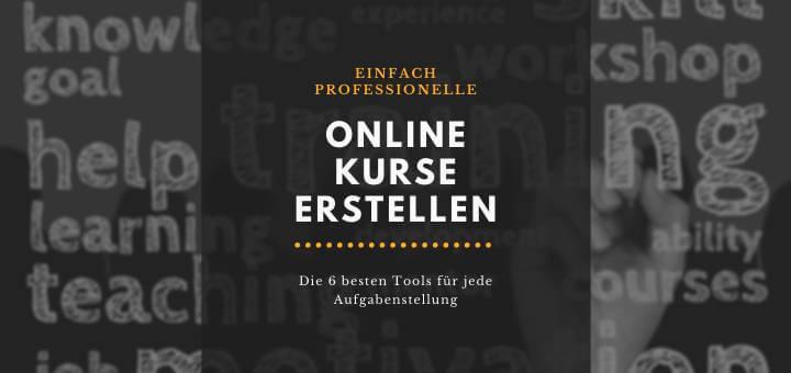 Online Kurse erstellen - Test E-Learning Software Tools