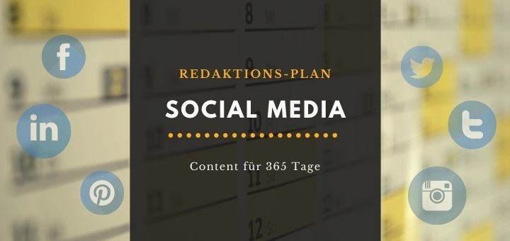Social Media Redaktionsplan 2021