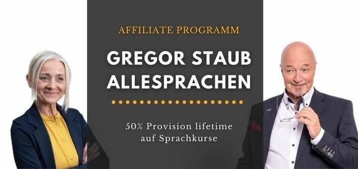 Affiliate Programm Sprachkurse lifetime Gregor Staub Allesprachen